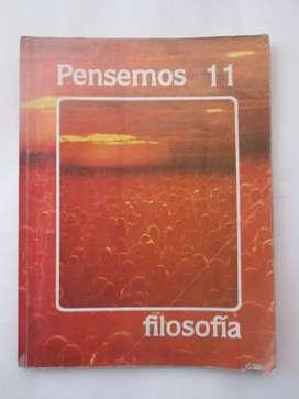 LIBRO ESCOLAR PENSEMOS 11 usado