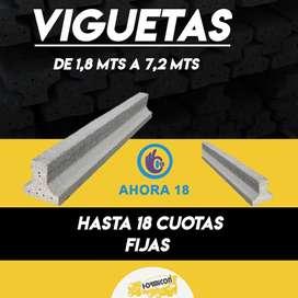 VIGUETAS DE 1,8 a 7,2 metros lineales