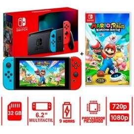 Nueva Nintendo Switch Mas Juego Mario