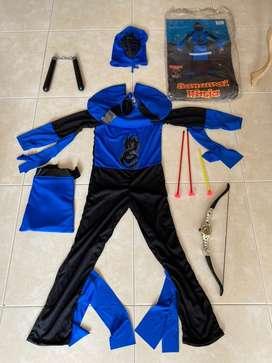 Disfraz Ninja Nińo 8 ańos un solo uso