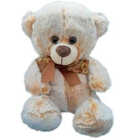 Peluche Oso Teddy Color Crema (30cm De Alto)