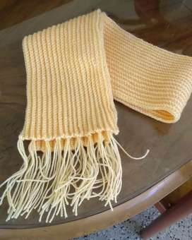 Bufanda de Lana a Crochet Artesanal
