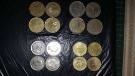 Monedas antiguas de 50y de 20
