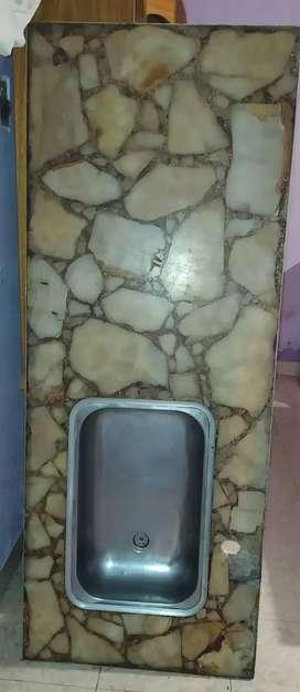 Mesada de granito con bacha