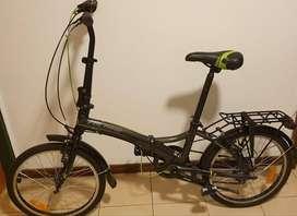 Bicicleta plegable Aurora Smart BK F20
