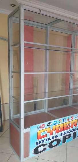 Vitrina de aluminio y vidrio de REMATE