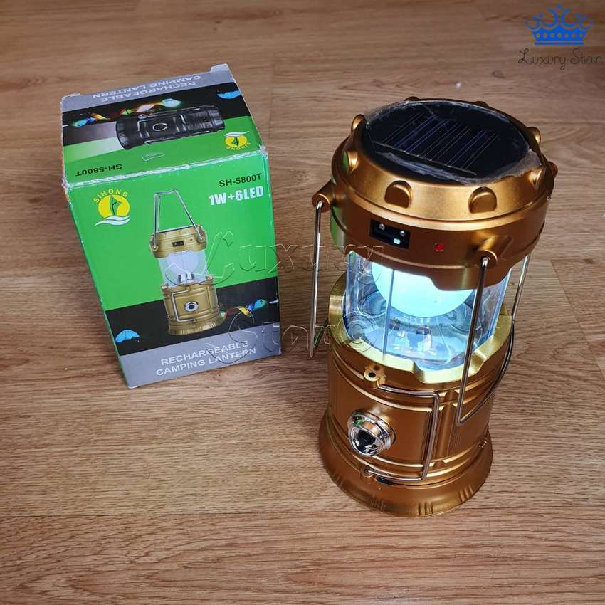 Lampara Solar Recargable Transformeer Linterna Panel Energía 0