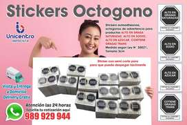 Stickers Octogono - Imprenta Delivery