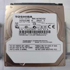 "DISCO DURO SATA TOSHIBA 160 GB 2.5"" PULGADAS PS3 PLAY 3 PLAYSTATION 3 PS4 PLAY 4 PLAYSTATION 4 XBOX 360 XBOX ONE"