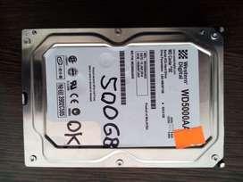 DISCO RIGIDO 500 GB PARA P.C. (USADO C/GARANTIA)
