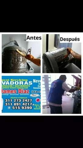 REPARACION DE LAVADORAS. NEVERAS. SECADORAS Y AIRES.