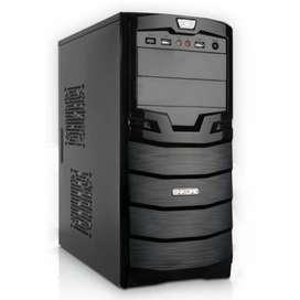 Case Enkore Gabinete Pc Usb Fuente Sata Cpu Monitor Intel