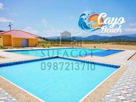 Terrenos a 30 Minutos de Puerto Lopez, Lotización Privada Cayo Beach, Solo en Efectivo, 5% de Descuento, Puerto Cayo,SD1