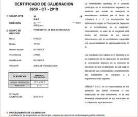 CALIBRACION DE TERMOMETROS DIGITALES