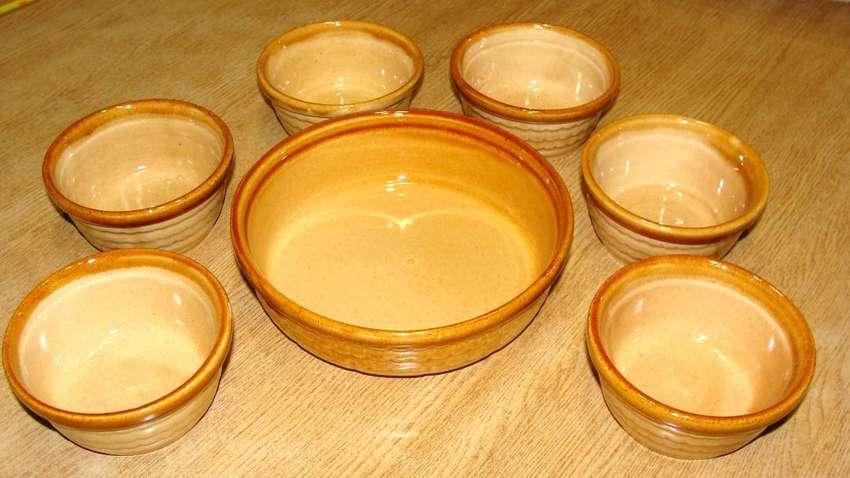 Antiguo Juego de cazuelas de cerámica Daclisa