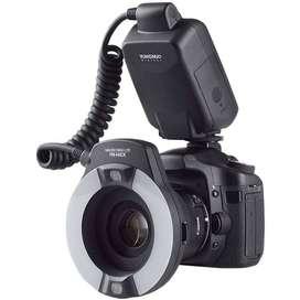 Flash Yongnuo Ringlight YN14EX TTL Canon Fotografía Macro
