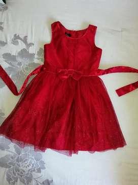 Vestido Rojo para Niña de 4-6 Años