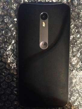 celular moto x3 tapa negra 3ra generacion de 16gb