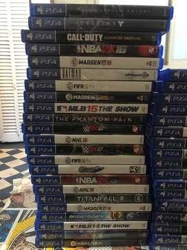 venta de Lote 50 DVD en caja de Playstation 4 originales ps4 play4
