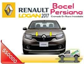 Bocel Persiana en acero inoxidable para Renault Logan, Sandero y Stepway
