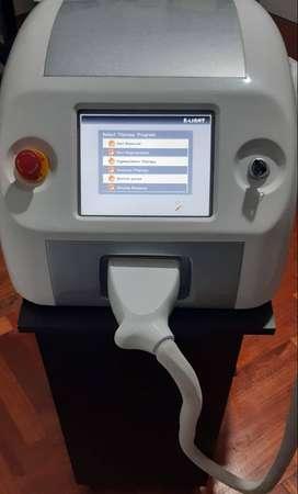 Maquina para depilación y radio frecuencia