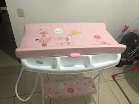 Bañera con cambiador de bebe