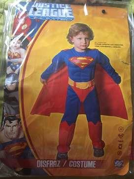Disfraz super man talla 2