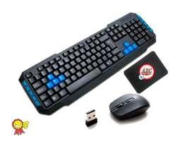 Teclado Y Mouse Inalambrico Pad Mouse ! Promocion !