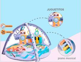 Alfombra piano gimnasio redonda de bebe, musical juguetes estimulacion