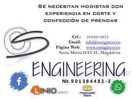 CS ENGINEERING NECESITA MODISTAS