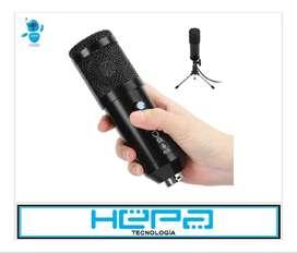 Grandioso Micrófono Condensador Usb Con Trípode