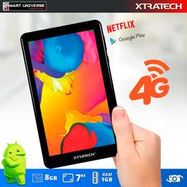 Tablet Xtratech 4G CHIP 7 Pulgadas 1gb Ram Android Wifi