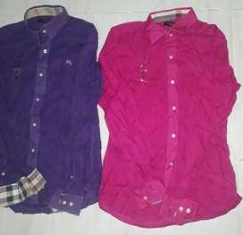 Camisas Burberry manga larga talla S