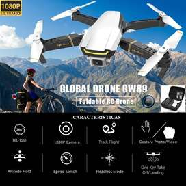 Drone GW89 camara 1080p sensores estable vuelo RC control altitud wifi fpv version 2020
