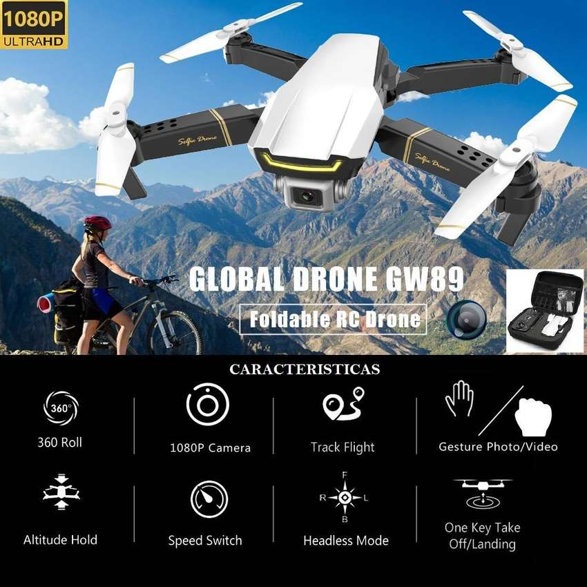 Drone GW89 camara 1080p sensores estable vuelo RC control altitud wifi fpv version 2020