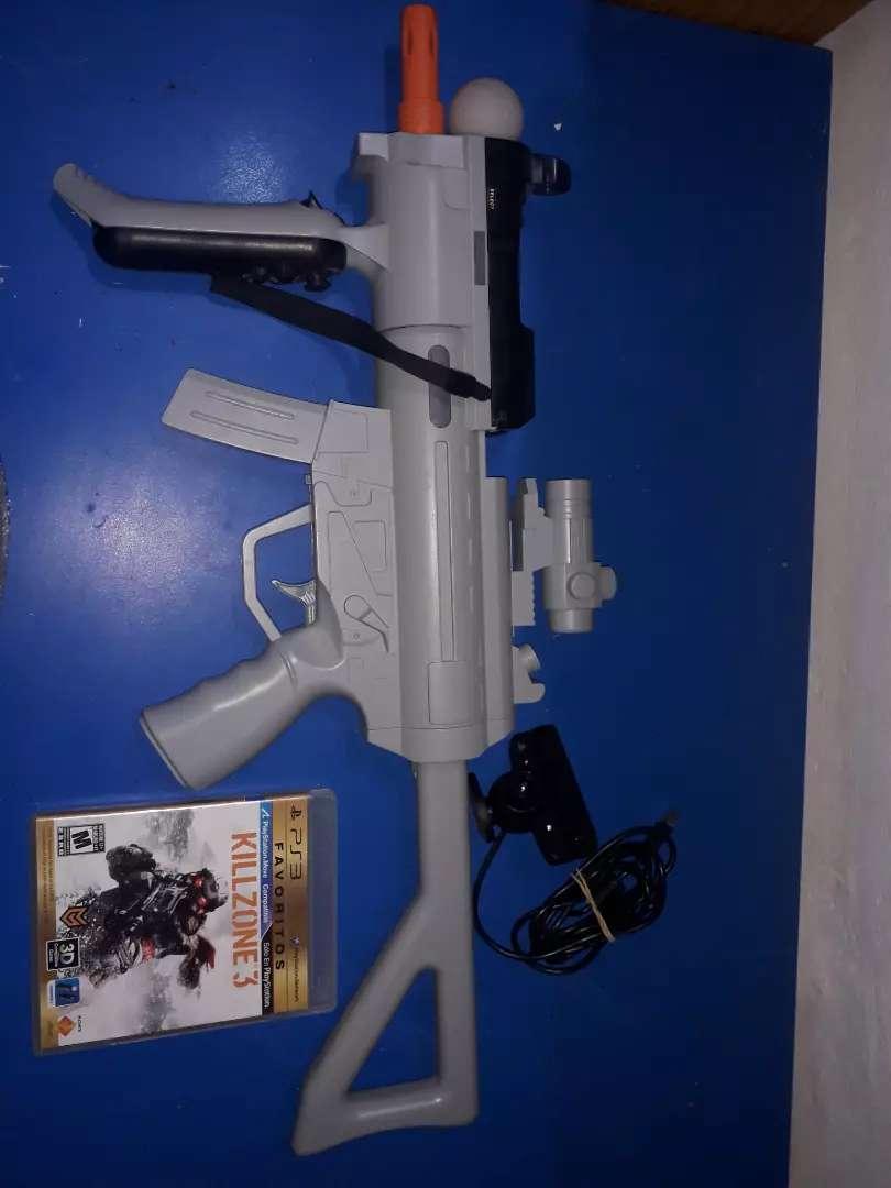 Combo PlayStation move (mando y navigator) + PS Eye + Juego + Arma 0