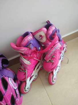 VENDO PATINES SEMI PROFESIONALES ROLLER POINTS  NIÑA 31-34