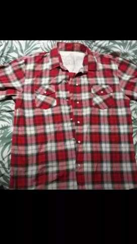 Camisa manga corta a cuadros xxl