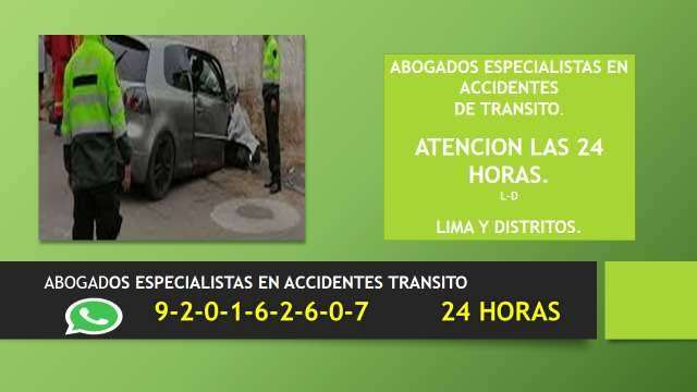ABOGADOS DERECHO PENAL-ACCIDENTES DE TRANSITO