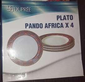 Plato Pando África x 4 Piezas Marca Dupree