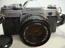 Equipo fotográfico CANON AE1. Oportunidad.