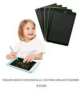 Tablero tableta tabla pizarra mágico mágica de para escritura dibujo digital con pantalla lcd funcion borrado para niños