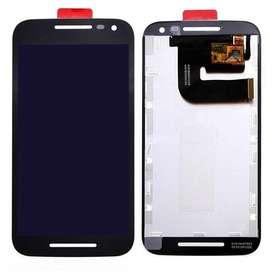 MODULO LCD PARA MOTOROLA G3 CATEGORIA AAA BLACK