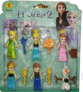 Set Mini Personajes Frozen X 6 + Obsequio