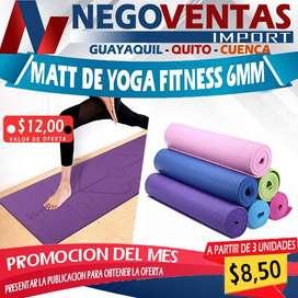 MATT DE YOGA FITNESS 6MM