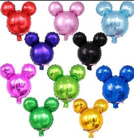 Globo Mediano Mickey Mouse Colores X Und