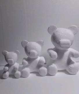 Osos 3D en Icopor 20  cm