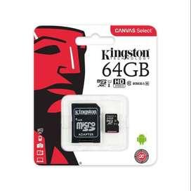 Memoria Kingston Canvas Select 64GB MicroSDHC Class 10 Uhs-I 80mb/S R Sdcs/64gb