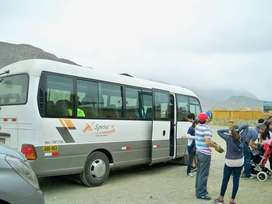 Transporte turístico a nivel nacional, para la playas, para evento.