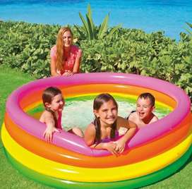 Piscina inflable intex de 168x46 tipo arcoíris